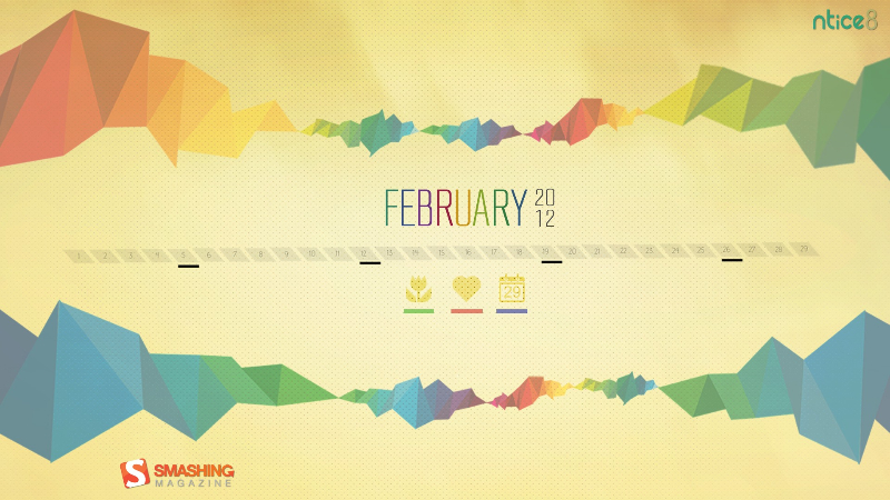 Colored Edge  - For February, the month of spring, love and 29 days. Designed by Rahul.s from India.